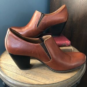 B.O.C. Ankle Bootie Brown Leather Heeled